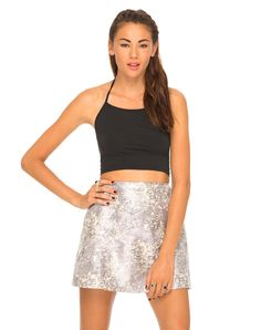 Motel Annie A Line Silver Skirt in Lilac Haze, TopShop, ASOS, House of Fraser, Nasty gal