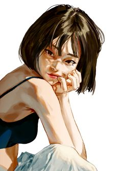 New illustration art girl sexy 26 ideas Inspiration Art, Art Inspo, Art Sketches, Art Drawings, Drawing Art, Drawing Girls, Drawing Of A Boy, Tomboy Drawing, Beautiful Girl Drawing
