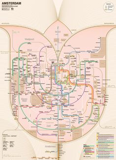 #Amsterdam #Railway System map redesigned