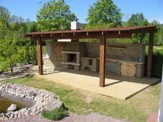Backyard Layout, Backyard Bar, Backyard Kitchen, Backyard Sheds, Backyard Patio Designs, Backyard Retreat, Outdoor Kitchen Design, Backyard Landscaping, Outdoor Fireplace Patio