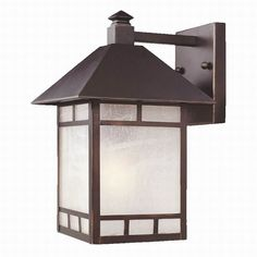 Acclaim Lighting Artisan 14.5-in H Architectural Bronze Outdoor Wall Light  Item # 432326 Model # 9012ABZ $84