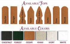 vinyl picket fence colors
