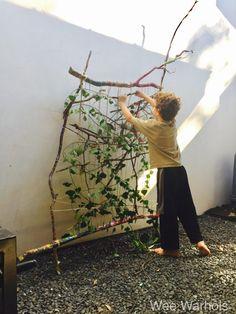 Large Outdoor Nature Loom- Garden Branch Weaving