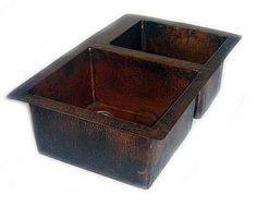 Doubl Bowl Copper Kitchen Sink