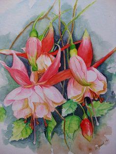 Blumen - Fuchsien von Aranka`s Shop auf DaWanda.com