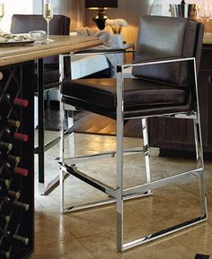 Like a fine whiskey, the Seville Modern Bar Stool has subtle complexity.