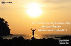 Die innere Stimme ist der Kompass der Seele / Andreas Tenzer  / #Spitzenzustand Lektion Nr. 9 / #clemensressel #unbezwingbar #nolimits #CHI