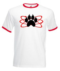 Atomic Paw Walking Dead Inspired Adult Novelty Carl Grimes Tshirt (Medium, White/Red)