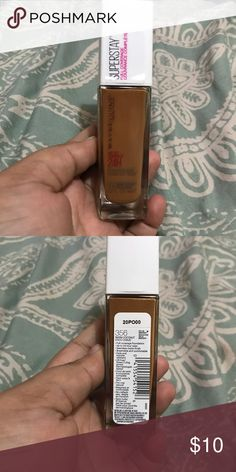 Maybelline superstay foundation New  Not my shade only pumped once's Shade : warm coconut 356 Maybelline Makeup Foundation