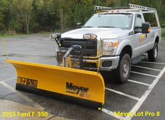 2015 Ford F-350 Meyer Lot Pro 8 Snow Plow, Lifted Trucks, Over The Years, Ford, Construction, Building, Truck Lift Kits