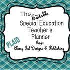 Editable Special Education Teacher's Planner {plaid}