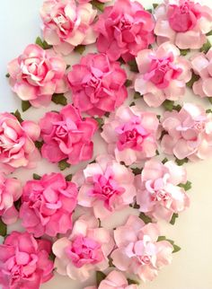 """Sweet handmade 1.5"""" paper flowers are the perfect treat for DIY crafts & DIY wedding projects!  Discover 22 delicious colors at www.karasvineyardweddingshop.com"""