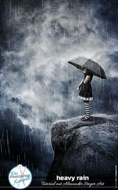 Photoshop CC // Composing // Heavy Rain