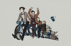 A bicycle built for eleven