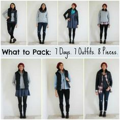7 Days / 10 Outfits / 8 Pieces - What to pack: Winter Travel Packing / via FabulouslyAverage