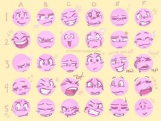 "Face Drawing jitterzart: "" Wanted try my luck at making an expression meme! This was fun~ ^^ Feel free to share and draw them! Drawing Reference Poses, Drawing Poses, Drawing Tips, Anatomy Reference, Drawing Tutorials, Drawing Ideas, Facial Expressions Drawing, Drawing Meme, Expression Sheet"