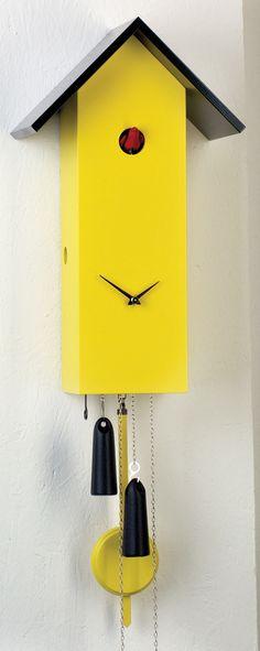 Cuckoo Kingdom, Inc - Modern Cuckoo Clock - SimpleLine | Mechanical | Yellow | Model
