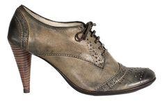 they're so funky!!! Bernardo Pivot High Heel Oxford in Dusty Vintage Calfskin