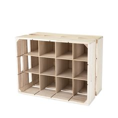 This Wooden Crate 12 Bottle Wine Rack brings a rustic feel to your wine cellar or home wine bar. Solid wood construction with wood cross dividers for wine storage of up to 12 wine bottles per crate. Wine Bottle Rack, Bottle Display, Bottle Wall, Bottle Holders, Cork Holder, Wine Display, Wine Bottles, Wine Decanter, Tabletop