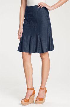 Nic + Zoe Seamed Denim Flirt Skirt available at Nordstrom