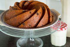 Pompoencake ( in plaats van rozijnen kan ook ander gedroogd fruit gebruikt worden b.v. gedroogde cranberries)