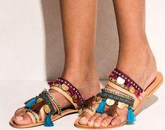 Sandals Jaipur handmade to order by ElinaLinardaki on Etsy
