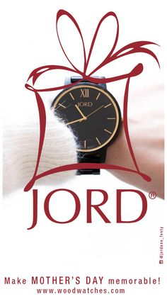 Gift Mom with a timepiece that will mark the moment in a memorable way! Gorgeously grained Ebony wood cases and bands are fitted with Swiss movements to create a timepiece that will be treasured for years to come. Find her perfect present today at woodwatches.com Extended return period for gifts. One year warranty. Ships worldwide!