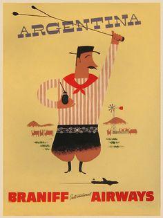 Vintage tourism poster #Argentina