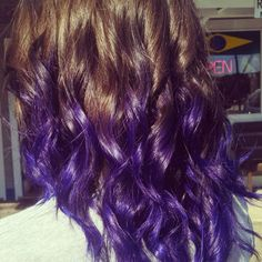 Purple ombre hair! Perfect for brunettes and for fall!