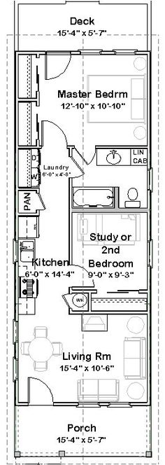 Shotgun house.... inside-wall-to-inside-wall clear space inside the rooms. What a functional floor plan -- no wonder these houses have remained so popular! #shippingcontainerhomes