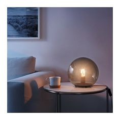 IKEA - FADO, Table lamp with LED bulb, Creates a soft, cozy mood light in your room. Ikea Fado, Grey Table Lamps, Pink Table, Lamp Table, Rose Art, Unique Lamps, Bedroom Lamps, Led Lampe, Home And Deco