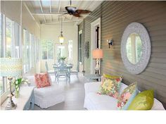 A porch that's as comfortable as a living room