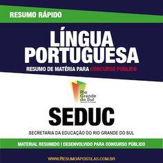 Apostila SEDUC-RS - Português - Resumo Rápido  ||   CONFIRA ➜ http://proddigital.co/1yVMdw7