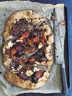 BEETROOT AND GOAT'S CHEESE SPELT TART  Donna Hay recipe  A wholesome vegetarian dish packed full of flavour.