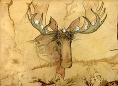 Merry Christmas Moose  by shadowgirl.deviantart.com