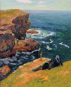 The Coast of Moelan - Henri Moret , 1896 French, 1856-1913 oil on canvas Private collection
