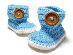 Crochet Baby Booties - Baby Booties - Baby Shower Gift Ideas- New Baby Gifts - Gifts for Newborn - Handmade Baby Shoes - Newborn Crochet