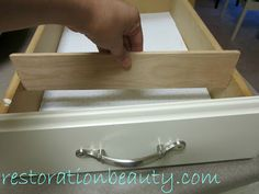 DIY Wooden Drawer Organizing Dividers. I could make these for kimmi's Dresser! removable ones of course!