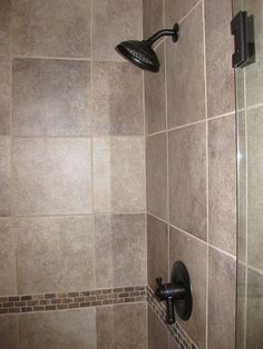 Image Detail For This Shower Has 12x12 Travertine Tile
