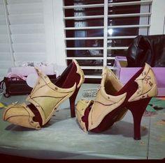 @vertvixen - Warbla custom shoes