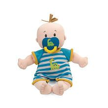 Manhattan Toy Baby Stella Baby Fella Boy Baby Doll with magnetic soother as well as an outfit and diaper.