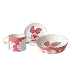 Royal Doulton Winnie the Pooh PIGLET 3-Piece Dinner Set  Plate Bowl Mug NIB