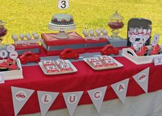 little red car birthday theme for little kid