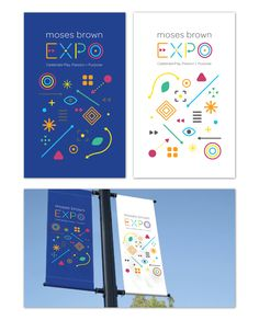 EXPO Lamppost Banners concept — Kendrah Smith Illustration + Design