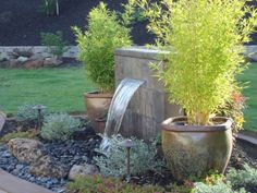 child-safe, pondless water feature