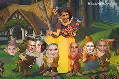 The seven initiates ~Divergent~ ~Insurgent~ ~Allegiant~ Arte Disney, Disney Magic, Disney Art, Snow White 1937, Snow White Seven Dwarfs, Snow White Disney, 7 Dwarfs, Painting Snow, Disney Pictures