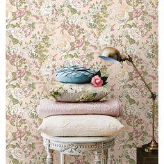 1014-001850 Pink Boho Floral - Ainsley - Kismet Wallpaper by A-Street Prints