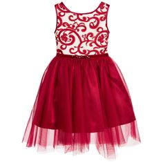 Kate Mack & Biscotti - Ivory & Red Dress with Tulle Skirt  | Childrensalon