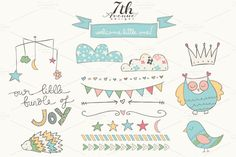 Welcome Little One by 7th Avenue Designs on Creative Market