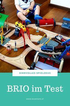 Wir haben die BRIO Eisenbahn für euch getestet! #lernspielzeug #kinder #holzspielzeug #nachhaltig Brio Bahn, Starter Set, Bike, Gym, Game Pieces, Woodworking Toys, Kids, Bicycle, Bicycles